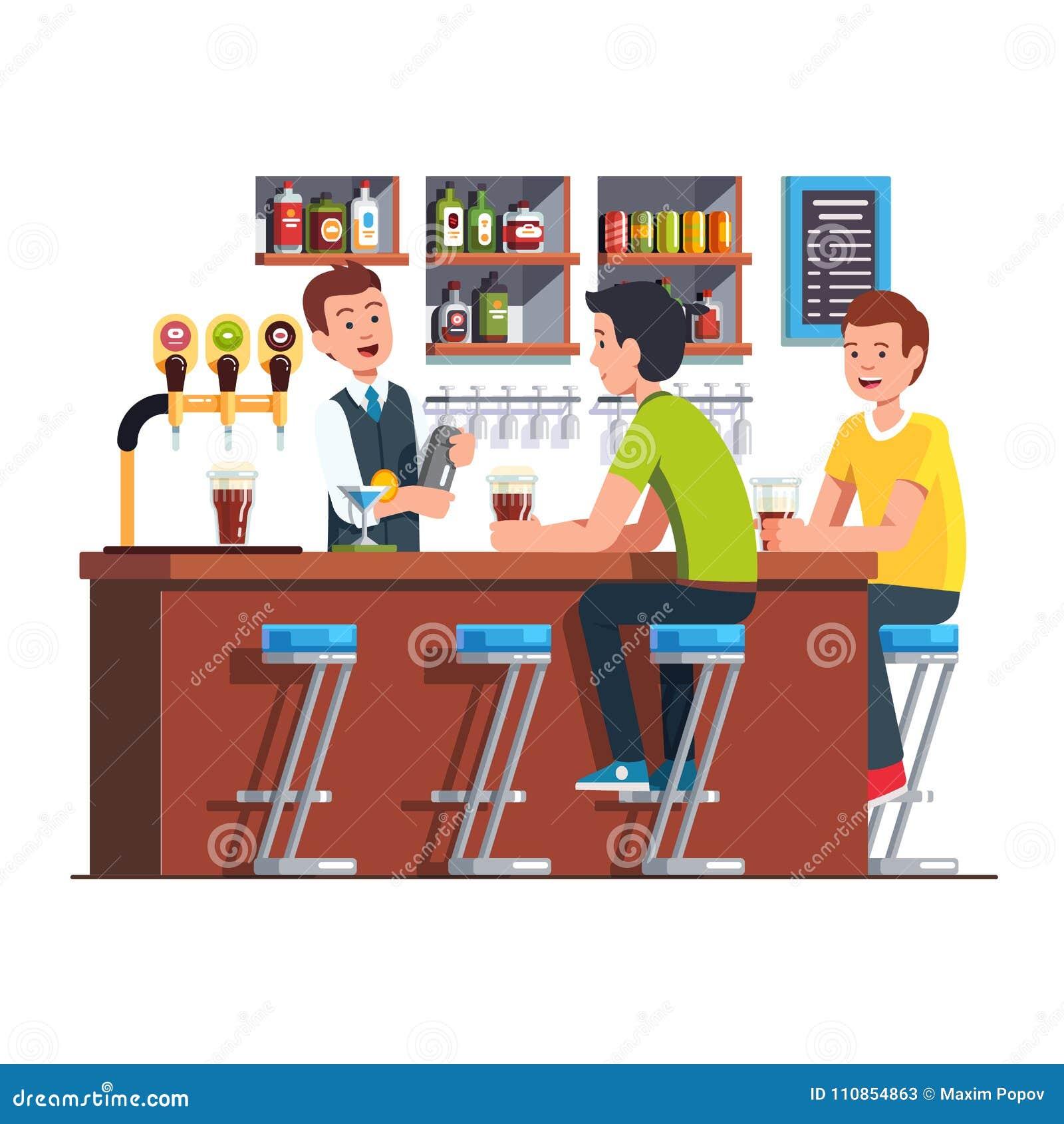 Cliente del servizio del barista Barista che fa cocktail