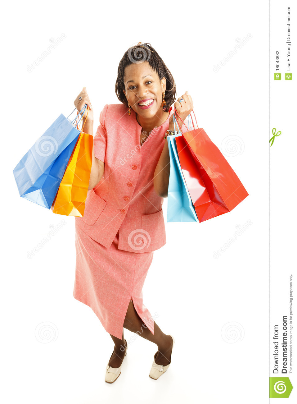 Cliente Excited do African-American