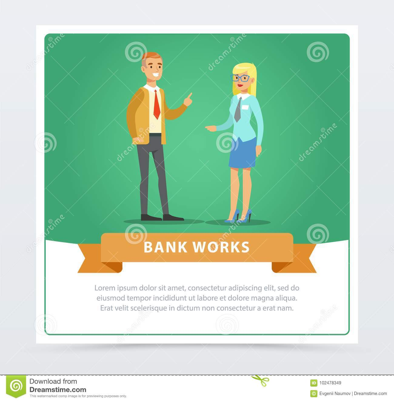 Clients Consulting At Manager, Bank Works Banner For
