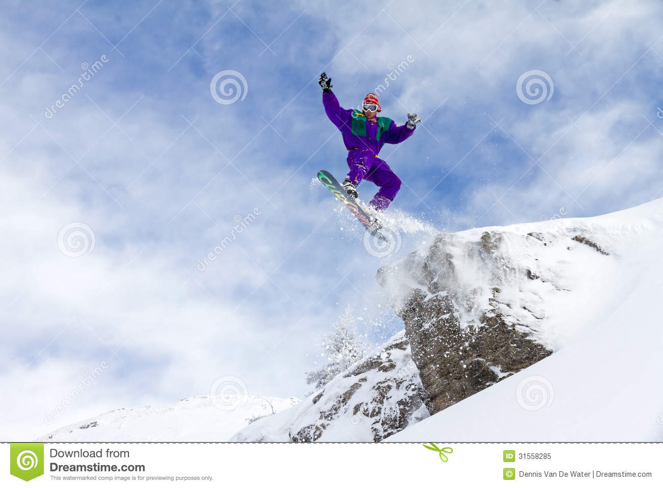Cliff Jump Royalty Free Stock Photo