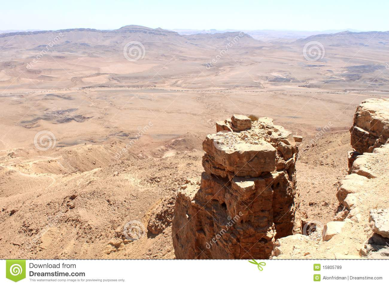 Cliff Over Ramon Crater