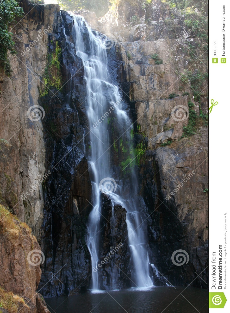 Cliff Of Waterfall Thailand Stock Image Image 30889529