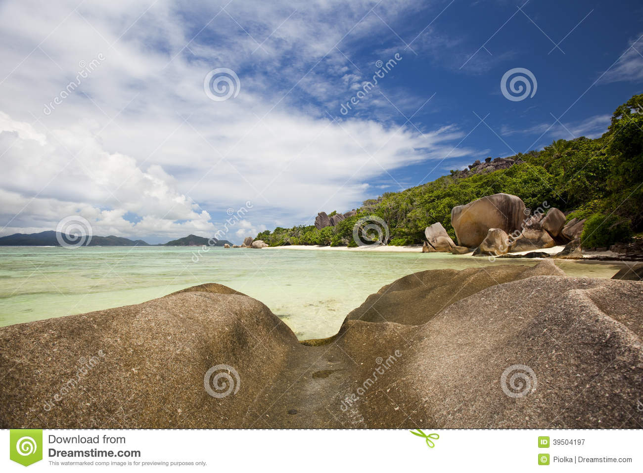 Download Cliffs At Anse Source D'Argent Stock Image - Image of nature, agency: 39504197