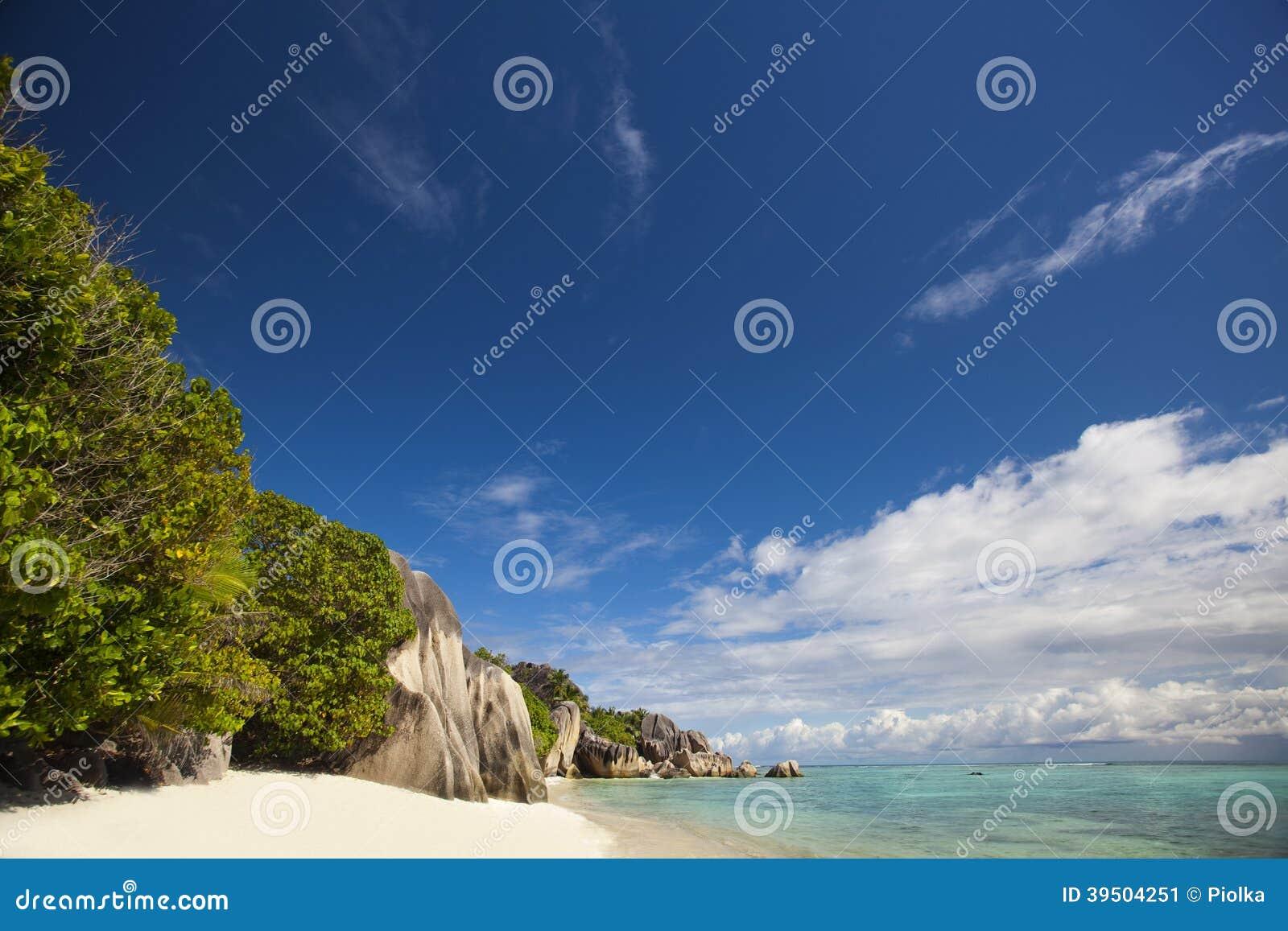 Cliffs at Anse Source D Argent