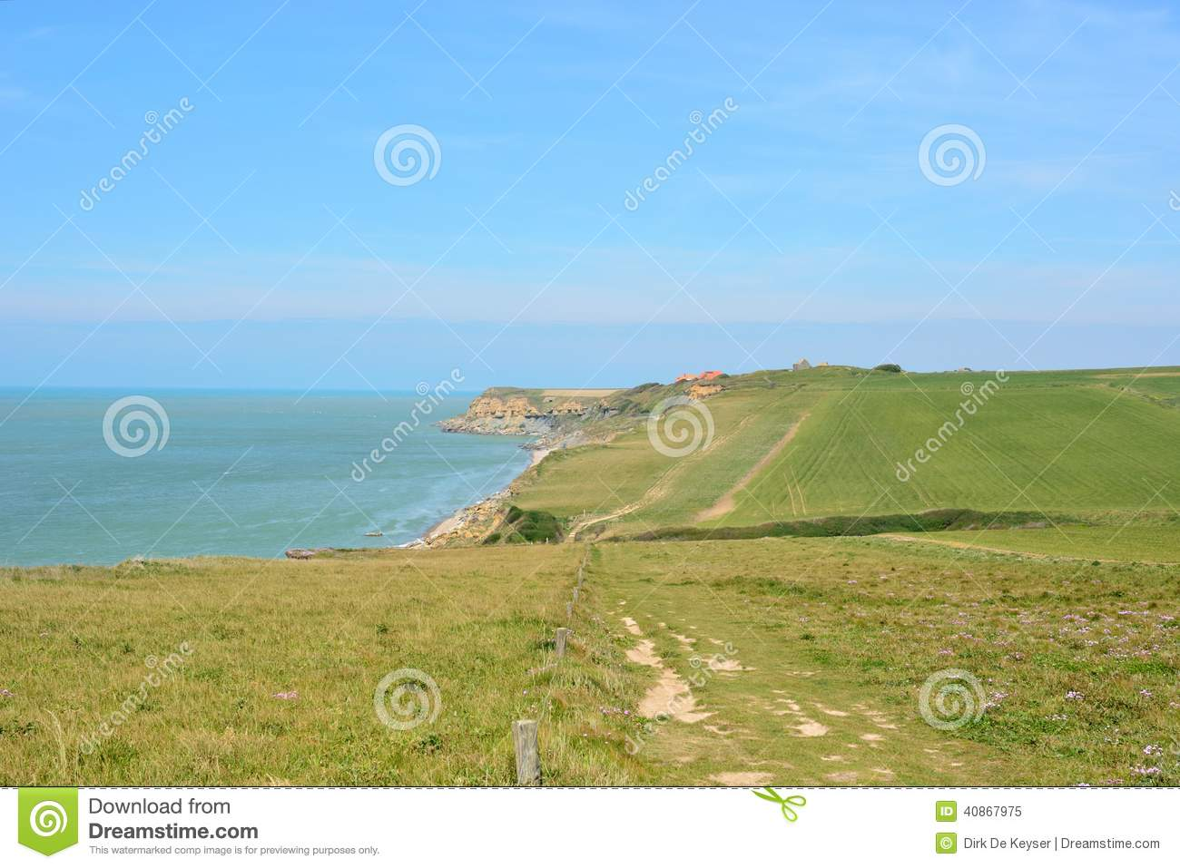 Cliffs at Cap Gris Nez, Cote opale, France