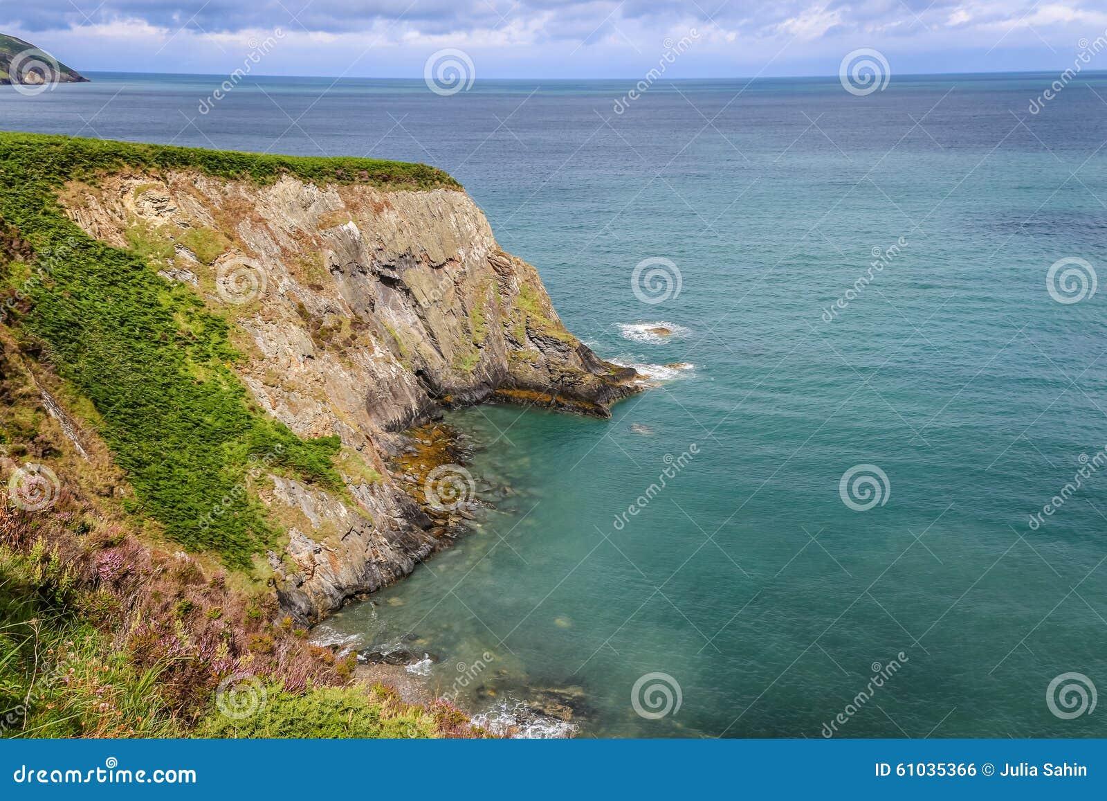Cliffs and coastline.