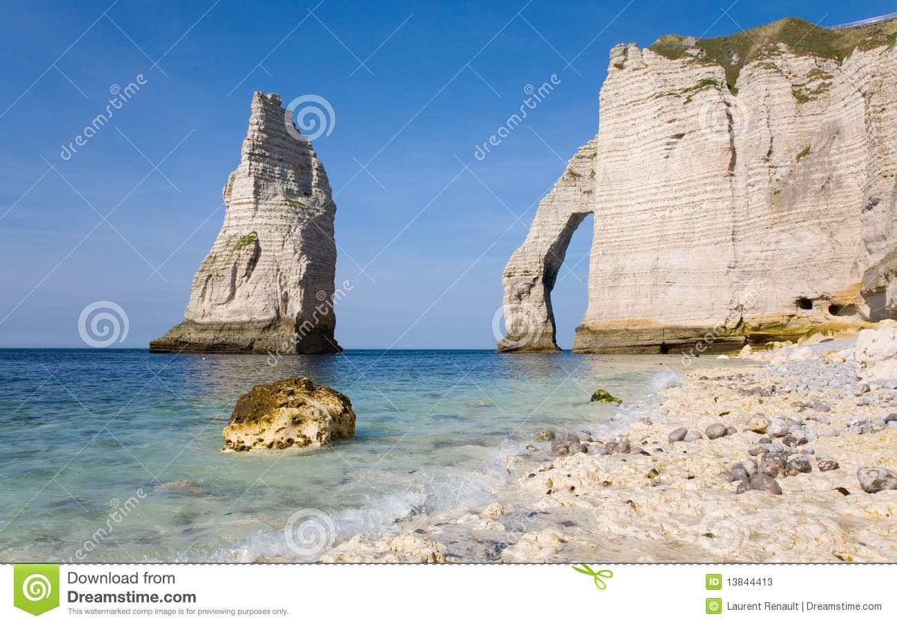Download Cliffs at Etretat stock image. Image of hill, nature - 13844413