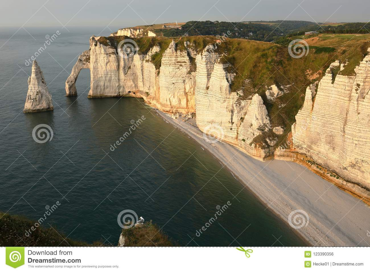 Cliffs At Etretat In Normandy Stock Photo Image Of Coast