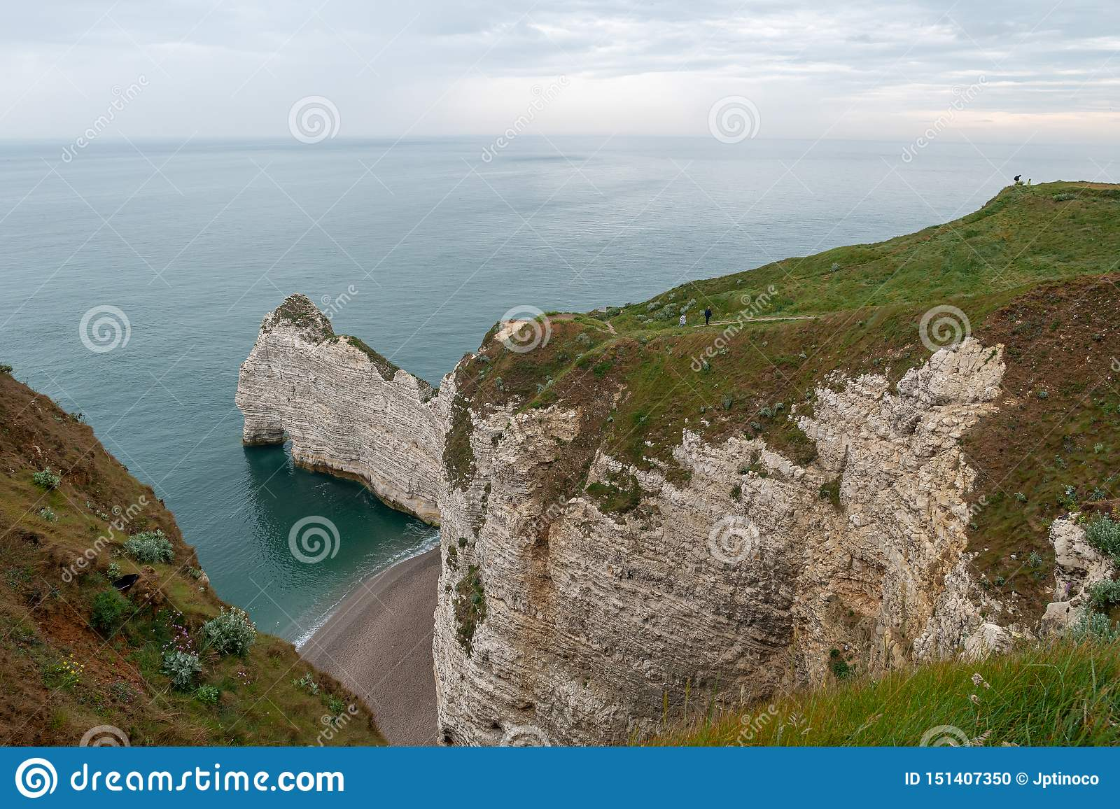 The Cliffs Of Etretat Normandy France Stock Photo Image Of