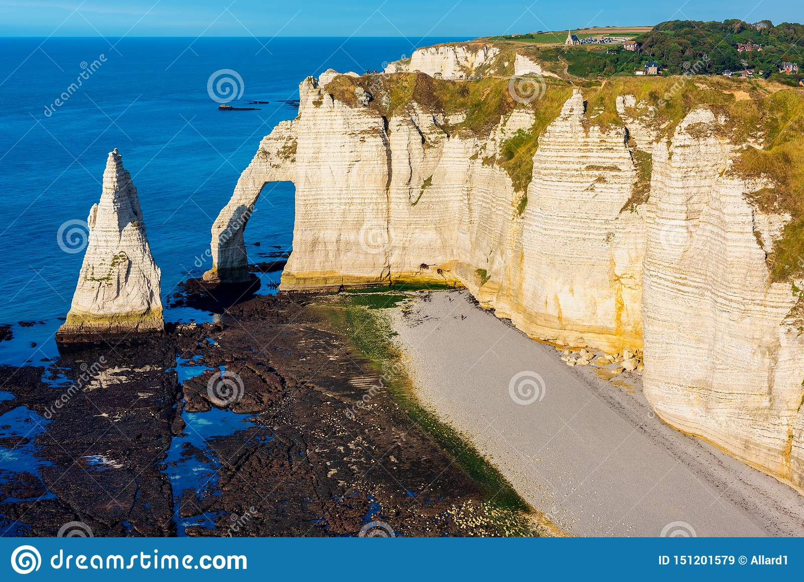 Cliffs Of Etretat Normandy France Stock Image Image Of Chalk