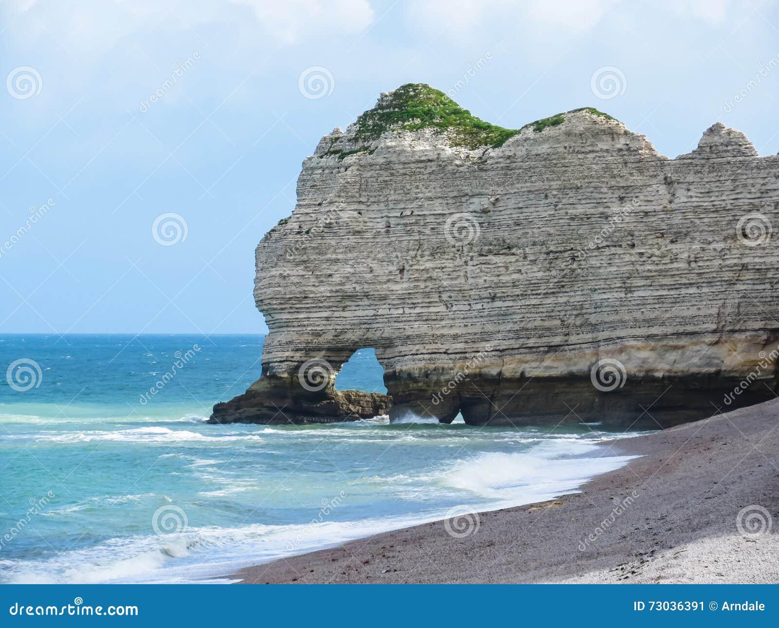 Cliffs La Falaise D Amont In Etretat France Stock Image Image