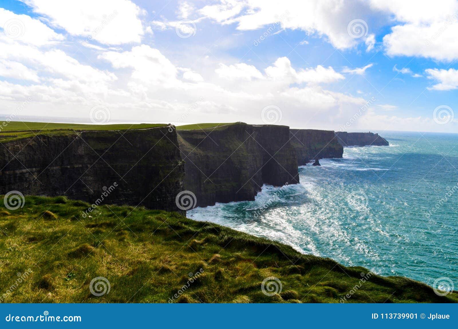Cliffs of Moher Doolin Ireland Irish famous sightseeing cliff atlantiv ocean hiking scenic coastline