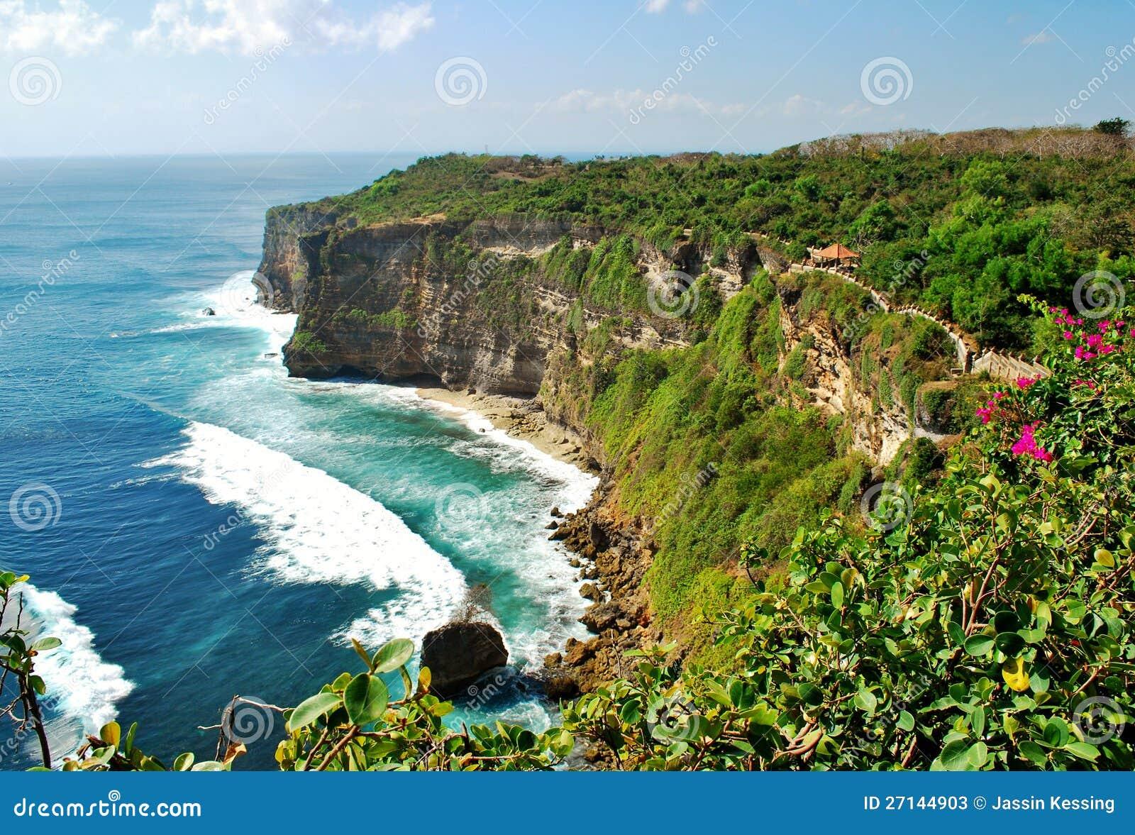 Cliffs Near Uluwatu Temple Bali Indonesia