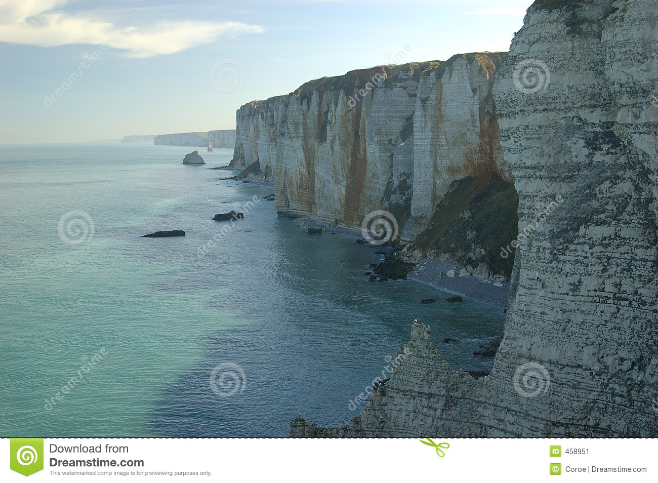 Cliffs in the Normandy