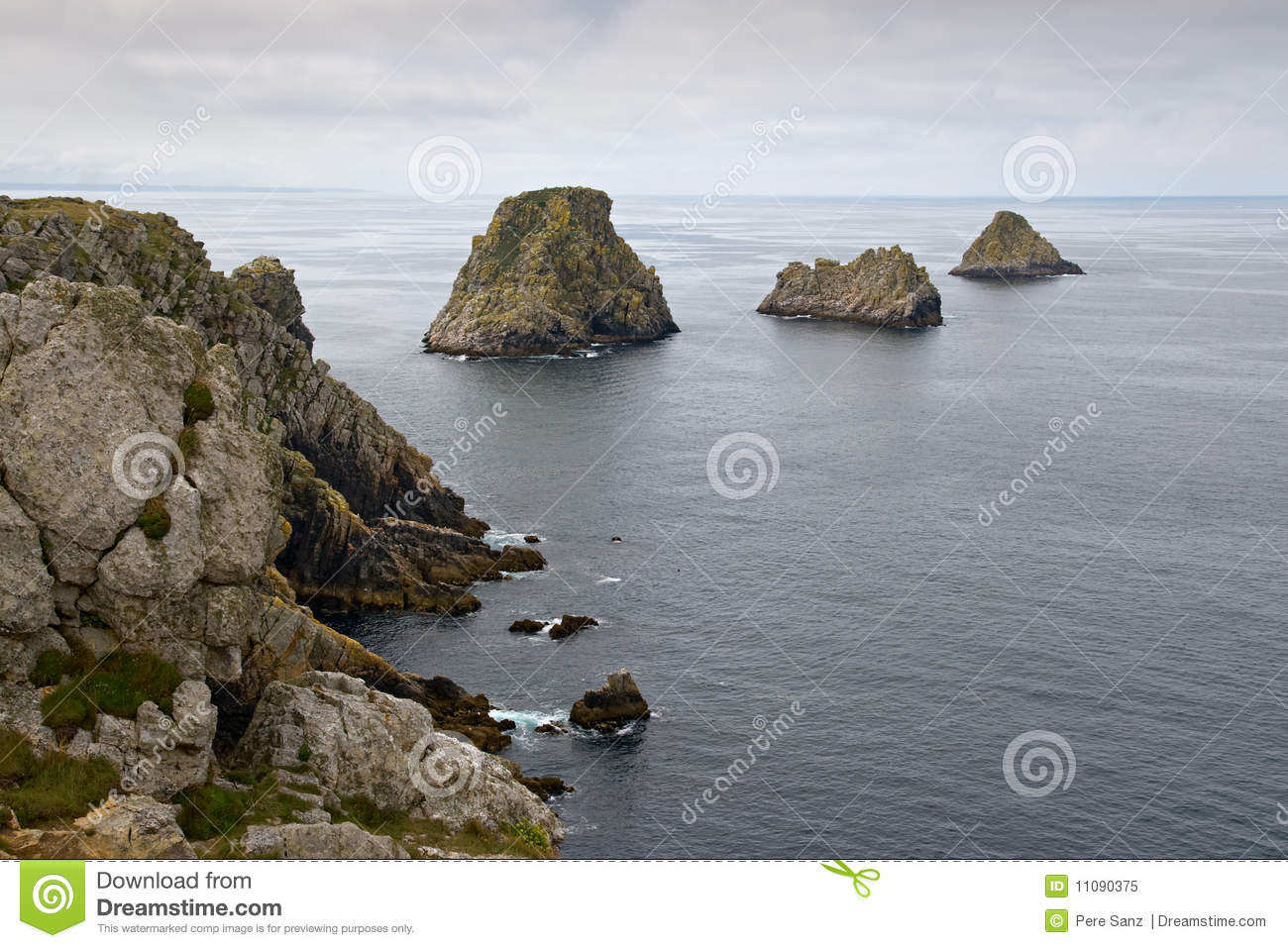 Cliffs in the Pointe du Penhir, Brittany, France