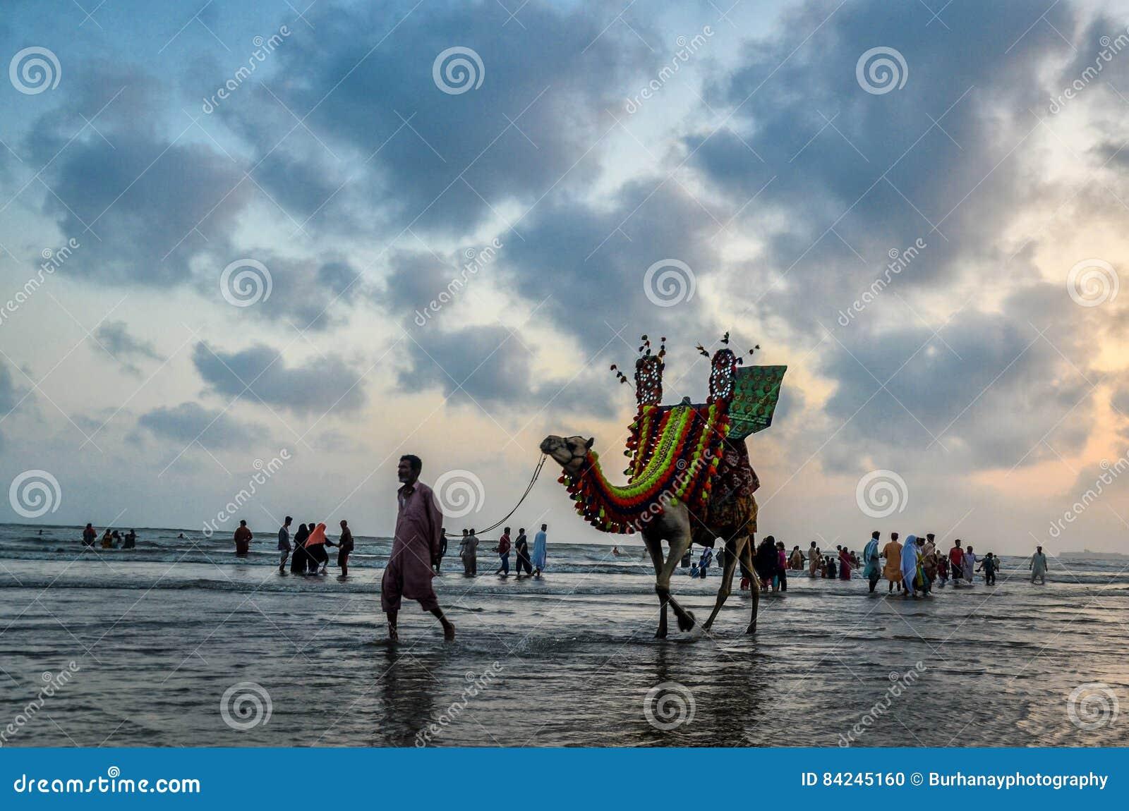 Clifton Beach Karachi Pakistan Editorial Image - Image of