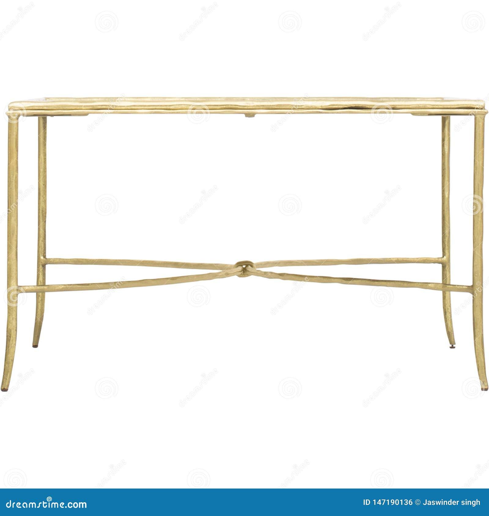 Clifton Writing Desk, Gold/wei?er, widergespiegelter Fernsehstand-Tisch f?r Systemkonsole mit Fach, Zwei-Fach-Schreibtisch mit we