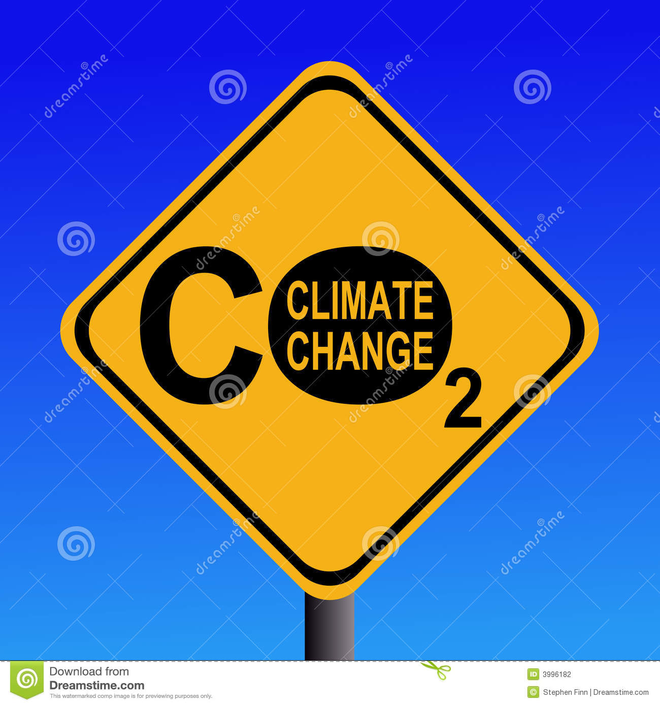 Climate change co2 sign stock photography image 3996182