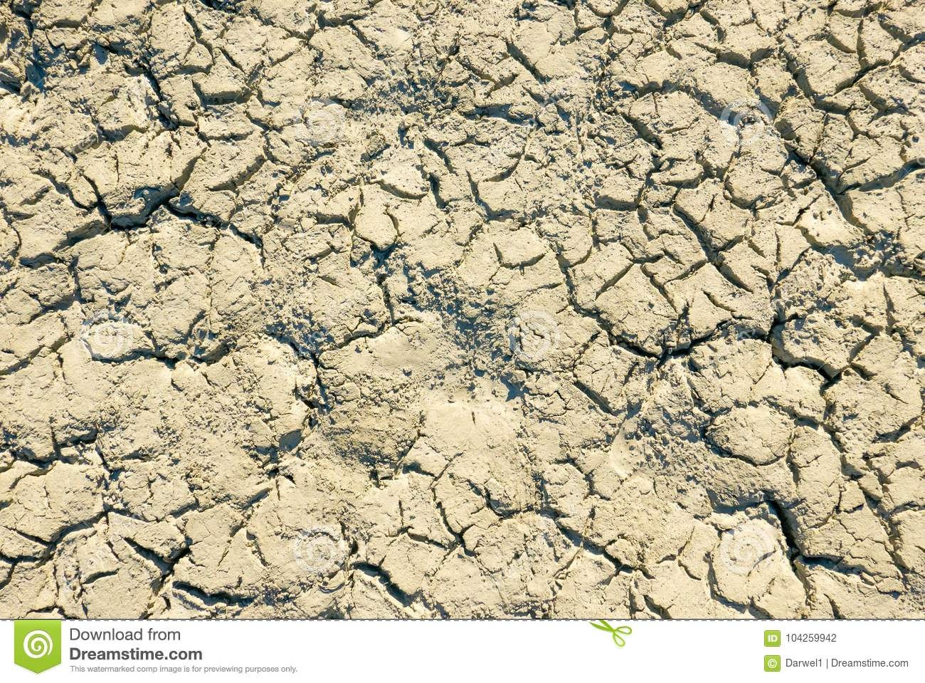 Climate change concept, dried surface of desert ground