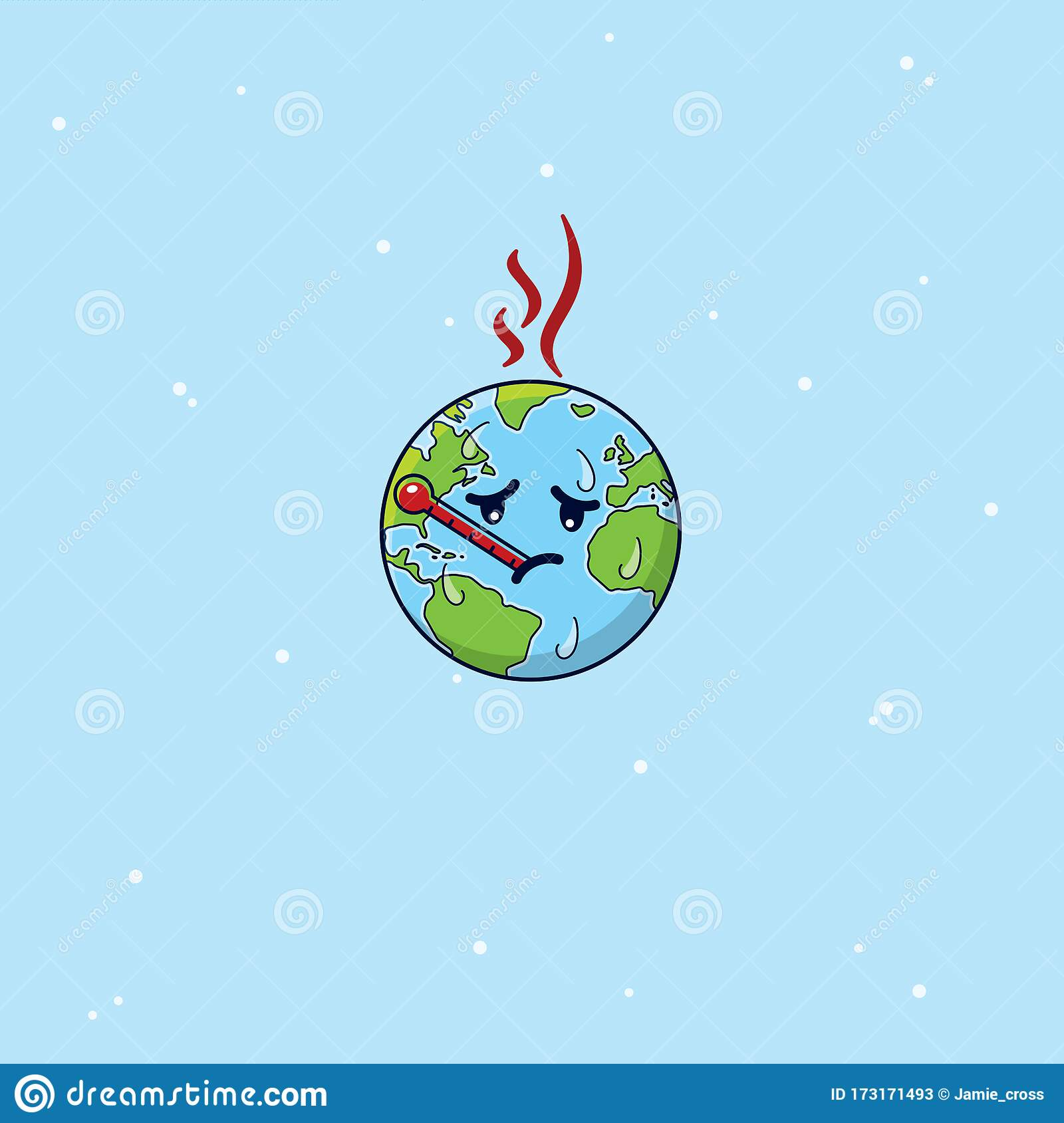 Climate Change Global Warming Globe Cartoon Stock Vector - Illustration of concept, carbon: 173171493