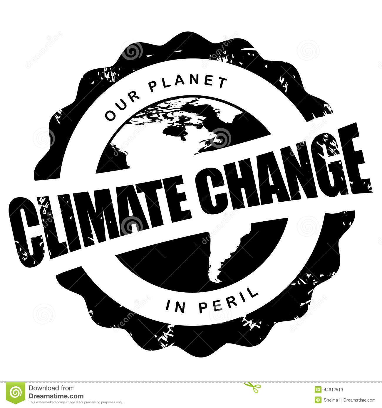 Climate Change Stamp Isolated On White Stock Vector Illustration