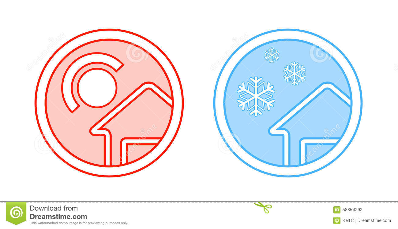 climate control icon stock illustration image of