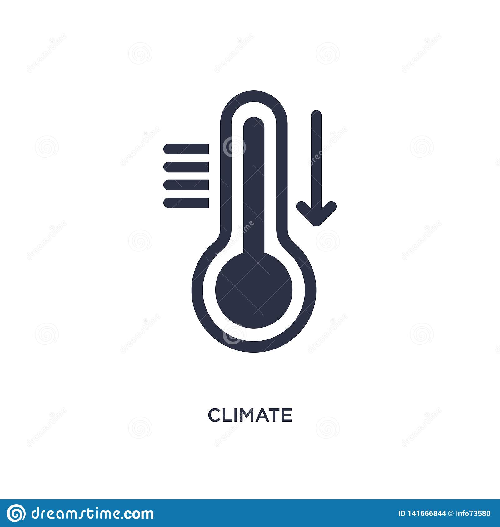 climate icon on white background. Simple element illustration from meteorology concept