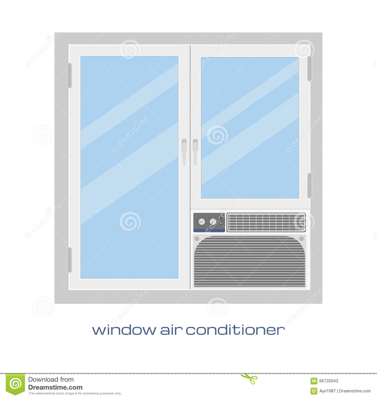 Climatiseur de fen tre image de vecteur climatiseur de for Climatiseur pour fenetre