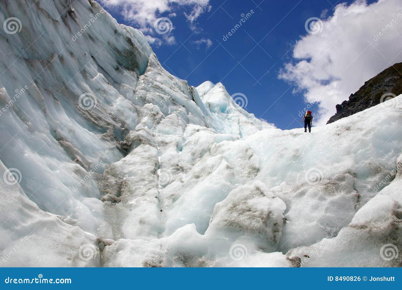 Climber Fox Glacier