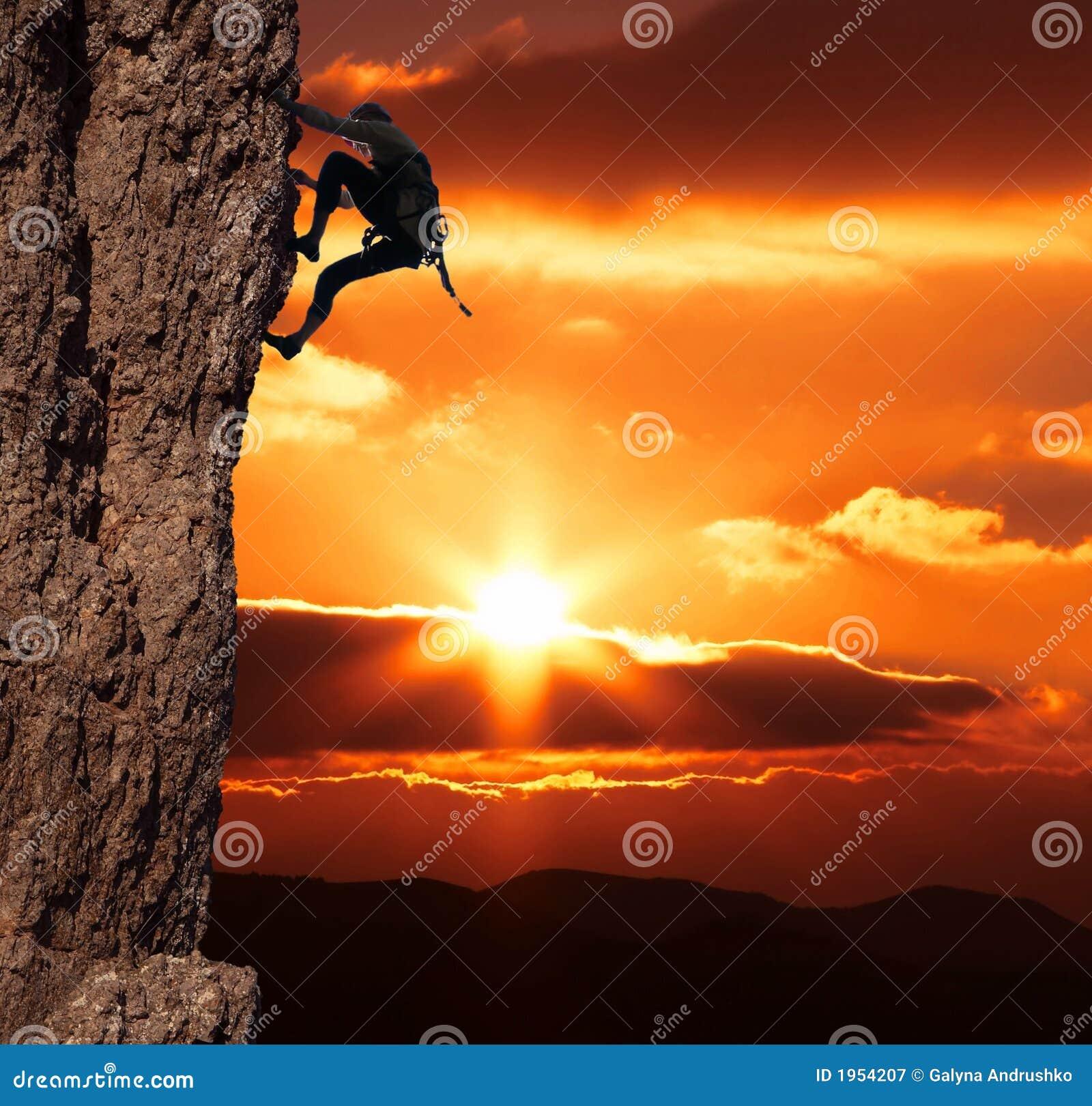 Climber on sanset
