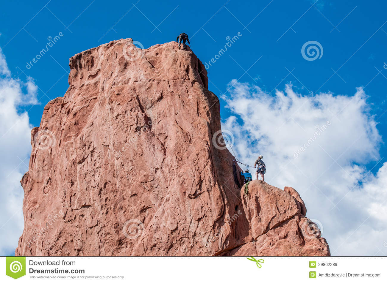 Rock climbing editorial stock image image 29802289 for Garden of the gods rock climbing