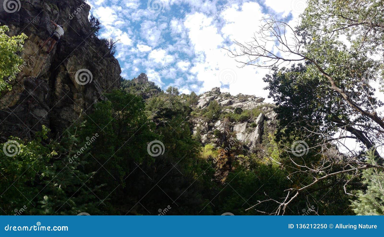 Climbing Cliffs in Rock Canyon