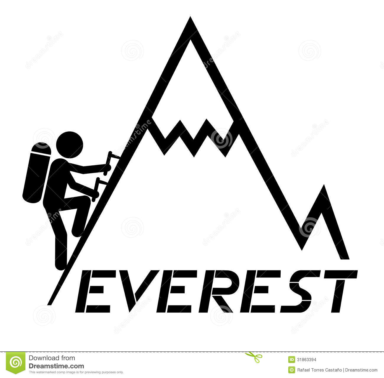 climbing everest stock vector illustration of illustration 31863394 hiking clip art cut out hiking clip art cut out