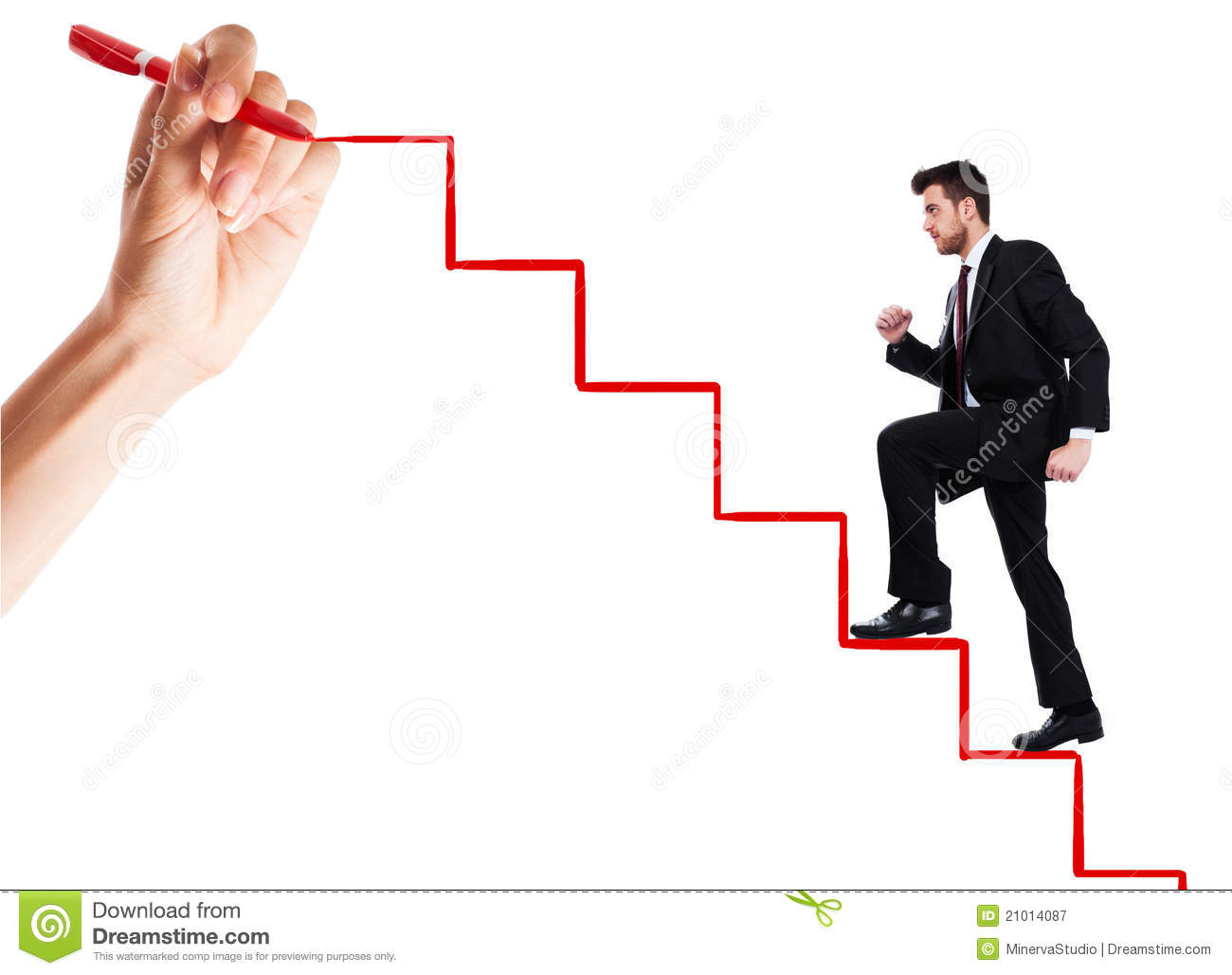 Person Climbing the Ladder of Success
