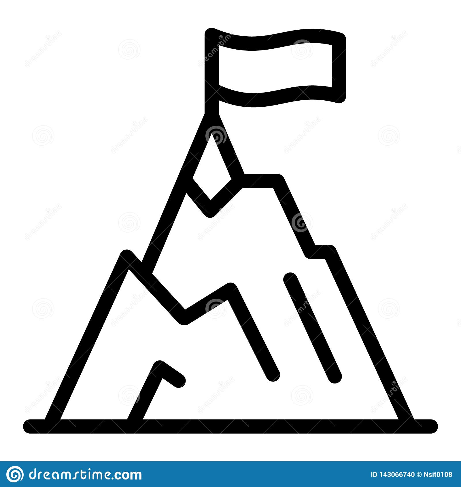 Climbing mountain icon, outline style