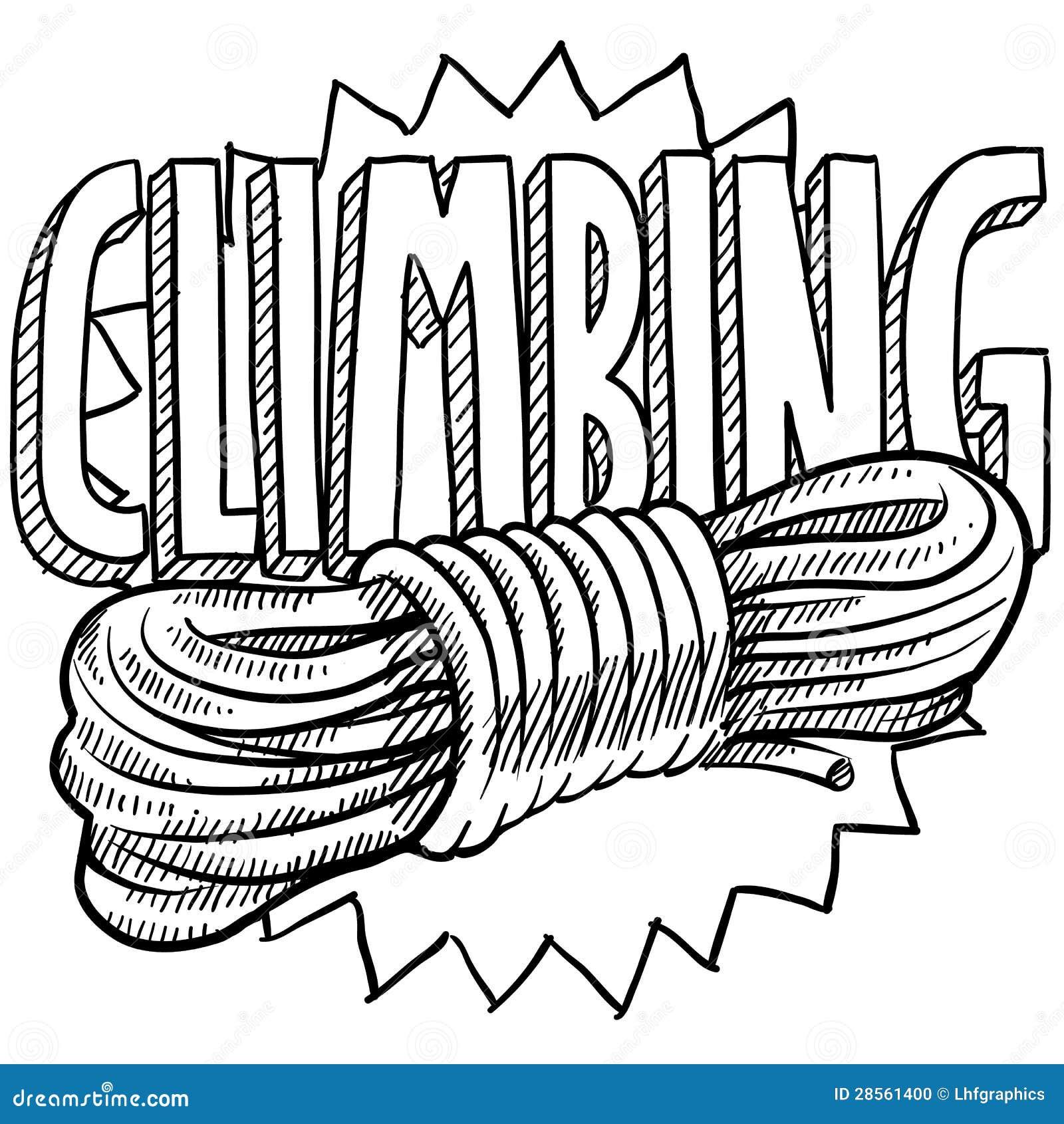 climbing sketch stock vector  image of mountain  attach
