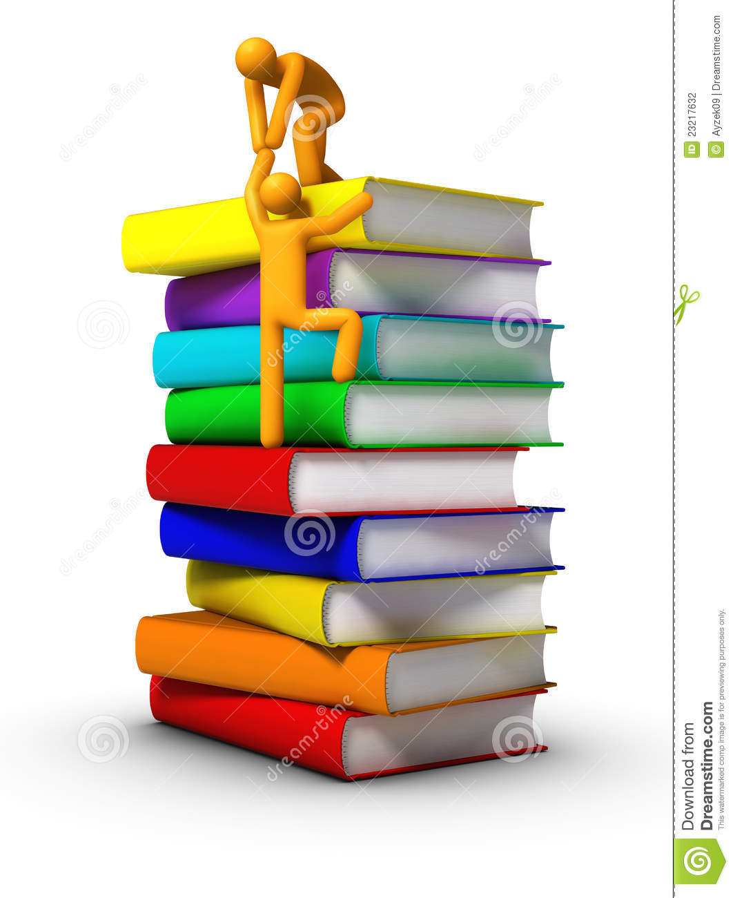 climbing to the books stock photography   image 23217632
