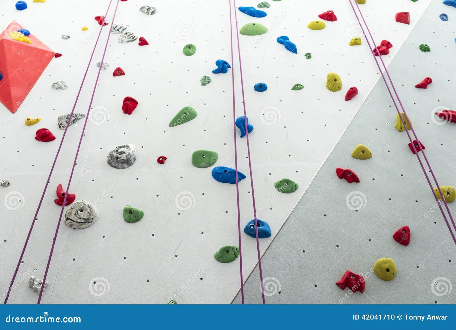 Rock climbing wall cartoon