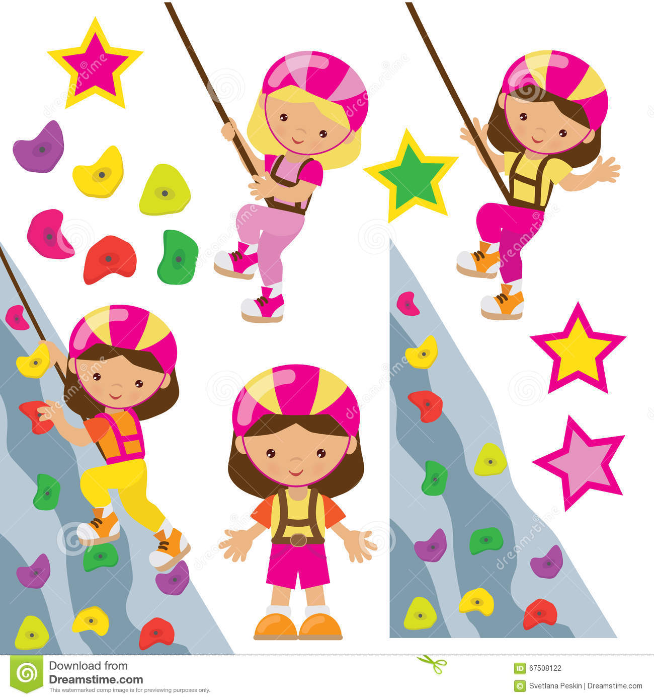 Climbing Wall Vector Illustration Stock Vector ...