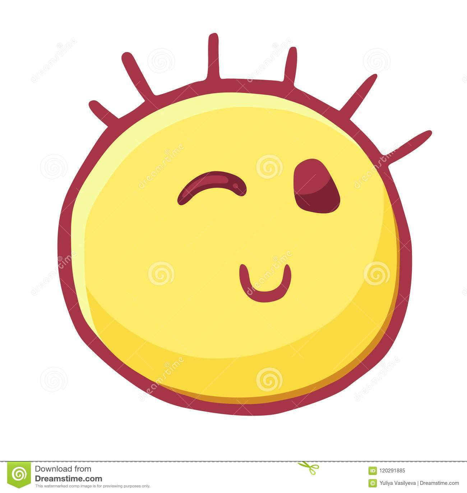 Clin D Oeil Colore D Icone D Emoticones Smiley Espiegle Emoji De Flirts Illustration De Vecteur Illustration Du Emoji Espiegle 120291885