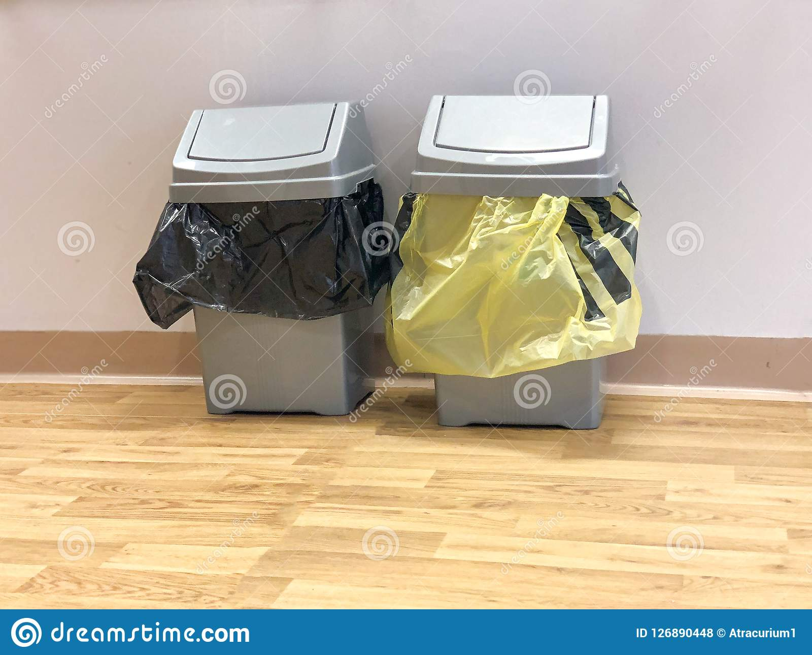 Clinical And Non Clinical Bins  Stock Photo - Image of