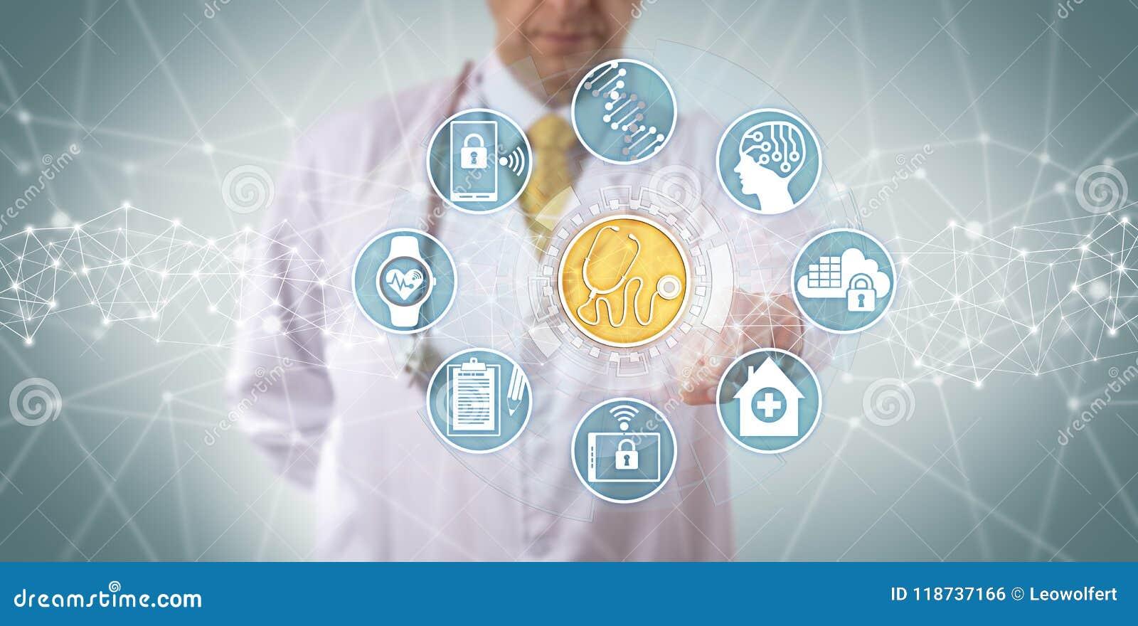 Clinician Accessing Medical Diagnostics App