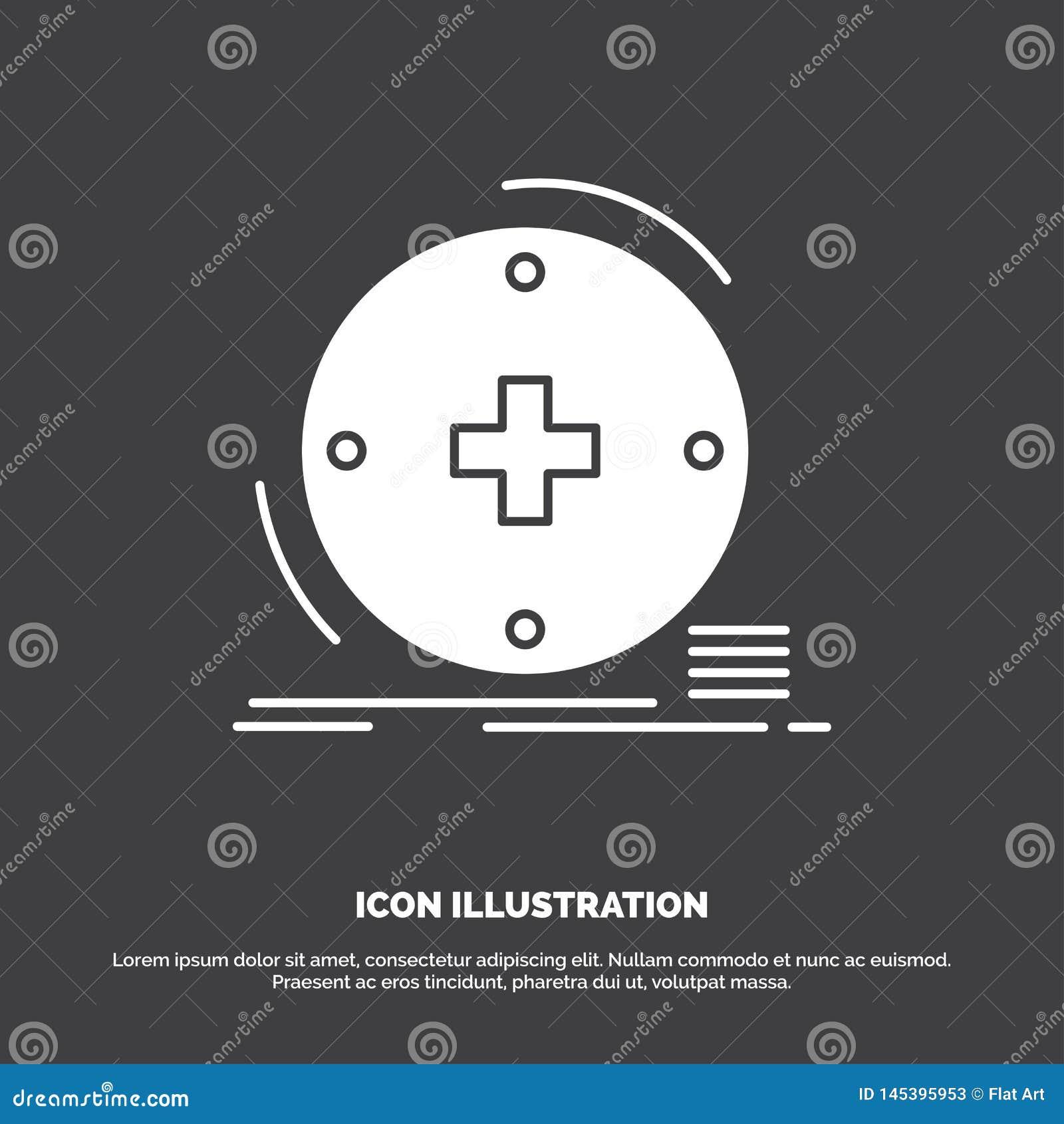 Clinique, numérique, santé, soins de santé, icône de télémédecine r