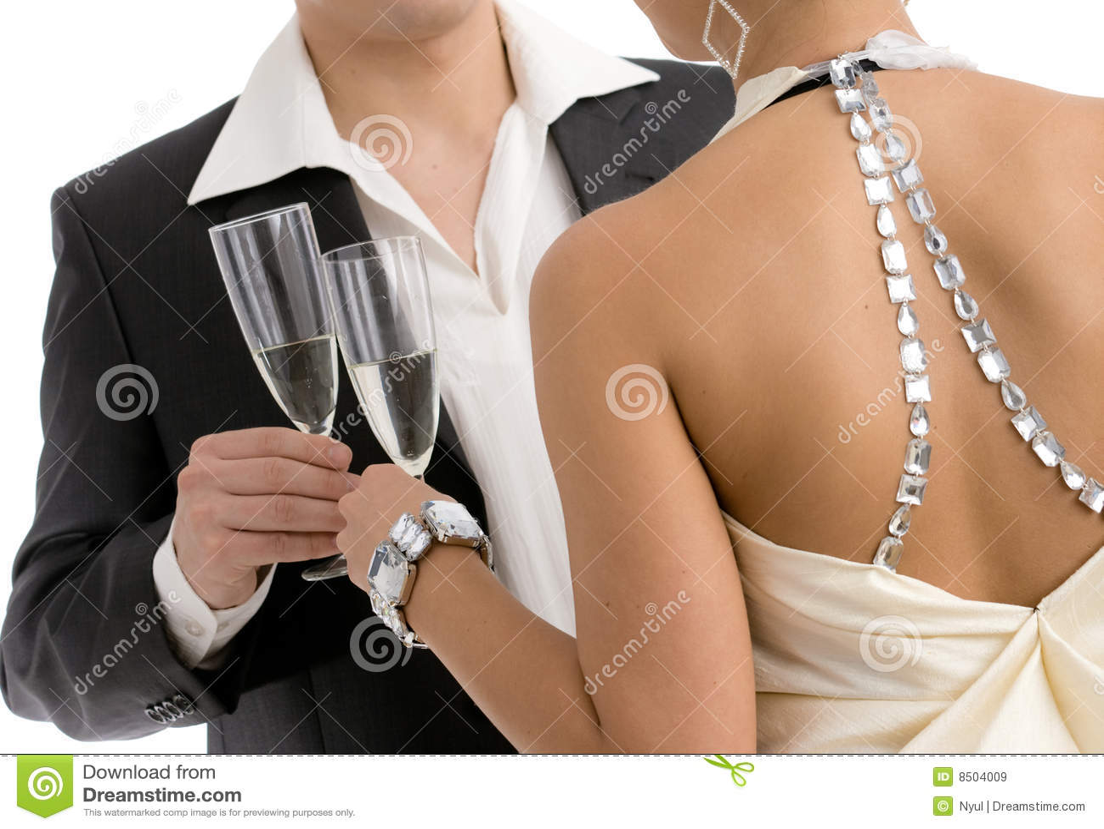 Clinking com champanhe