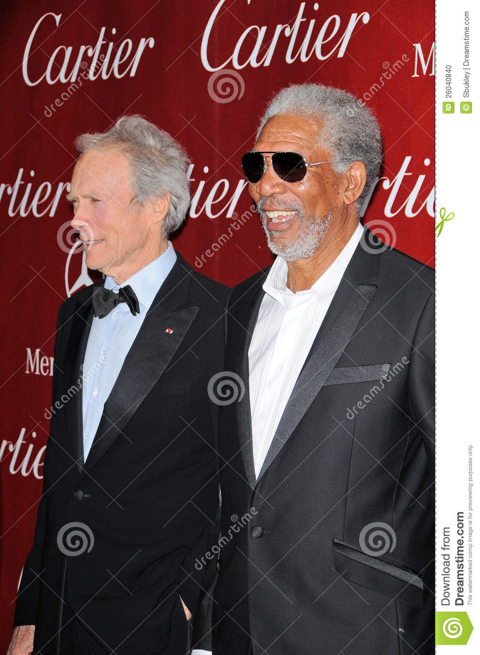 Clint eastwood and morgan freeman at the 2010 palm springs
