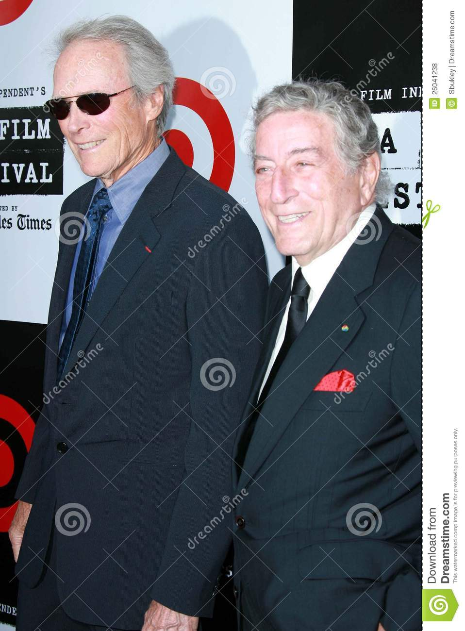 Clint eastwood tony bennett editorial stock photo