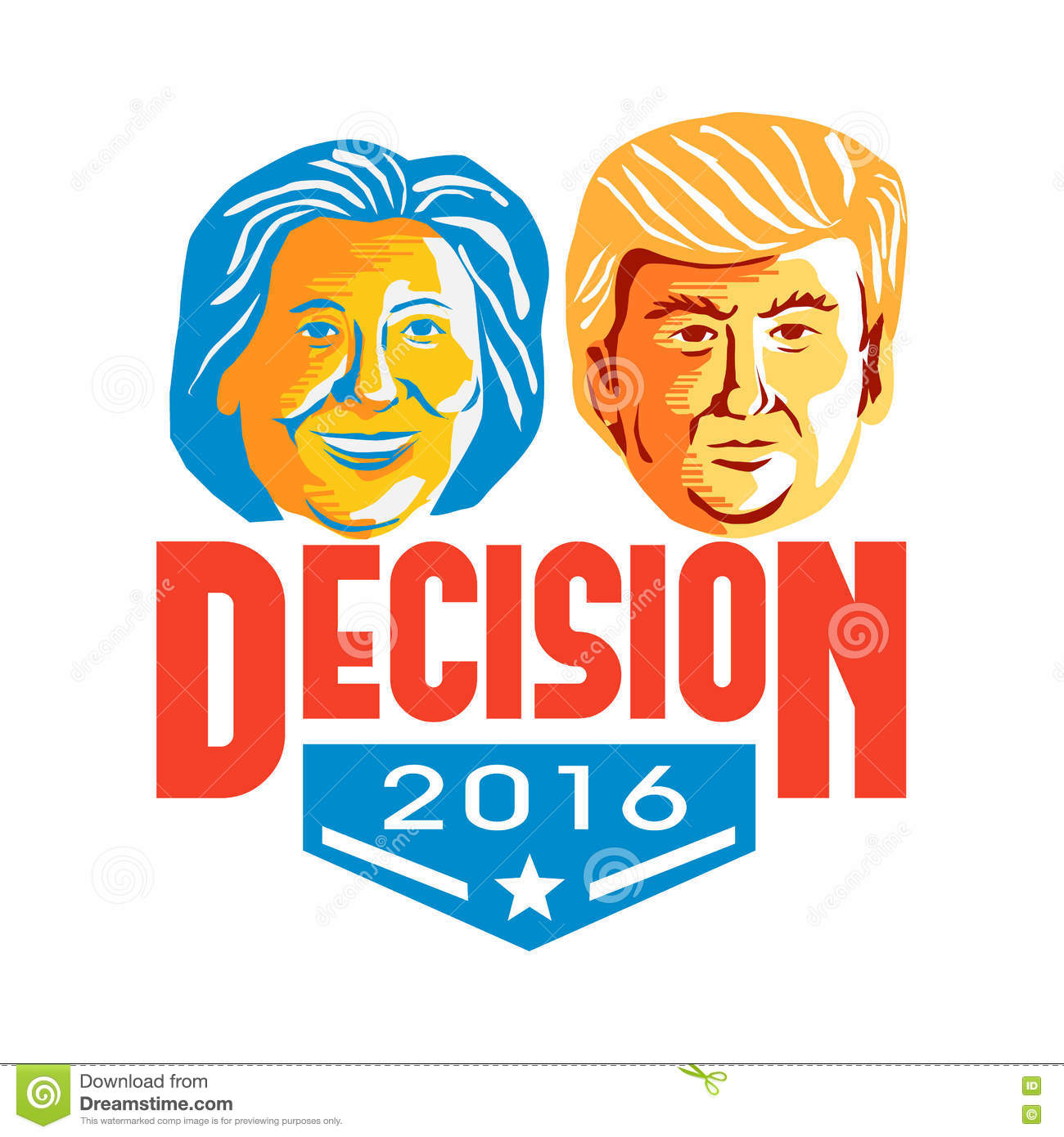 Clinton Versus Trump Decision 2016 Editorial Stock Photo ...