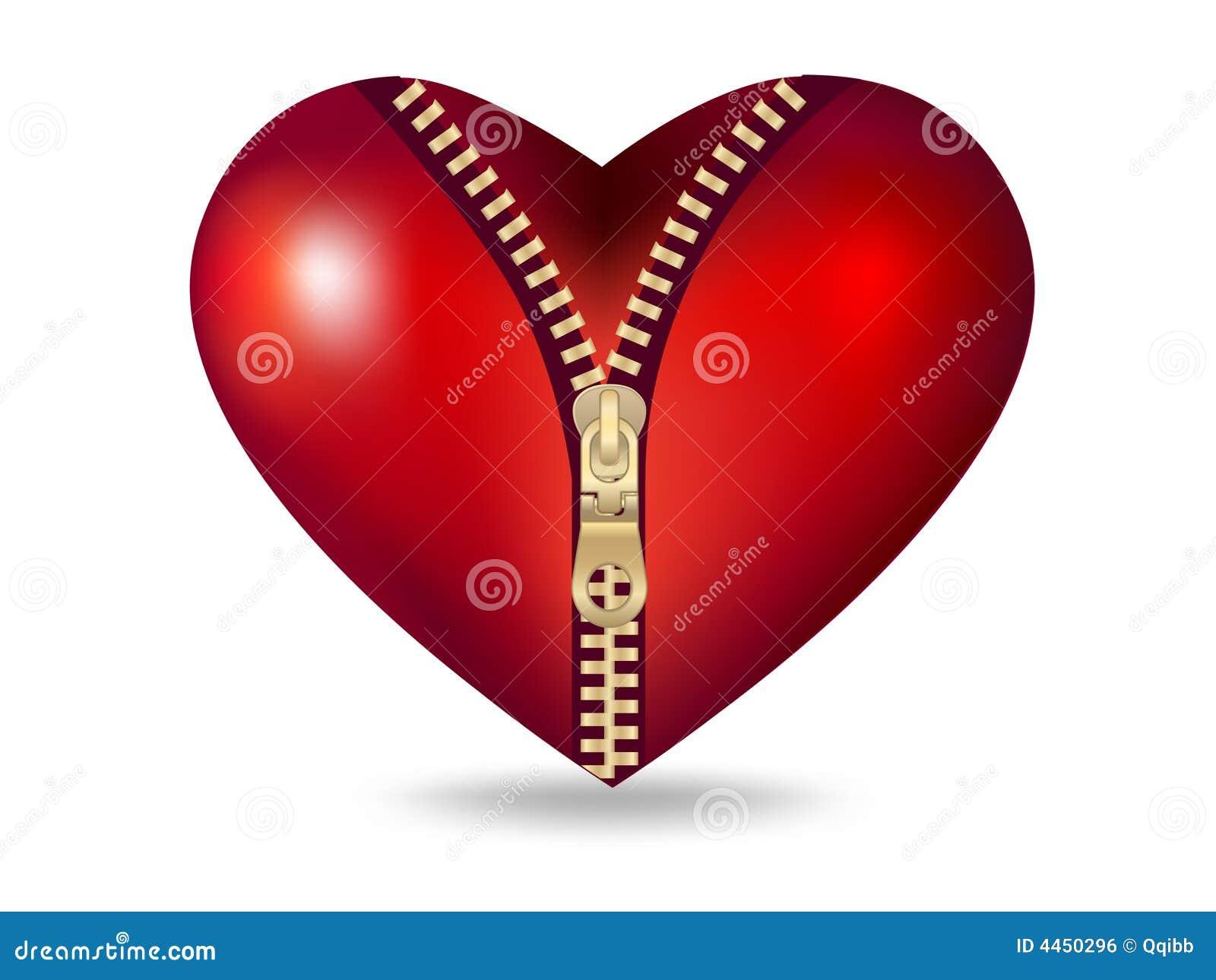 Clip-art De Coeur Rouge Avec La Tirette Image libre de droits - Image ...