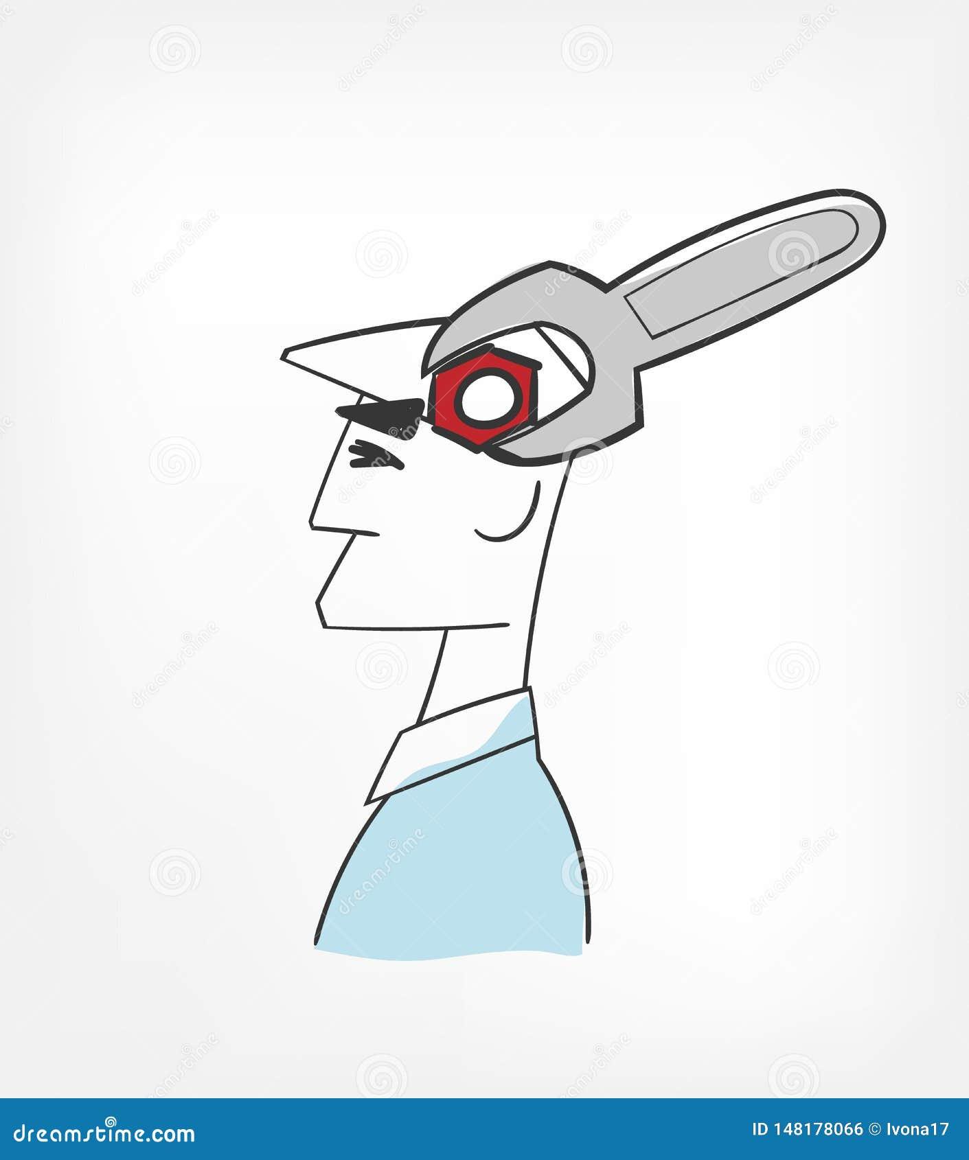 Clip art del ejemplo del vector del concepto de la mente del arreglo aislado