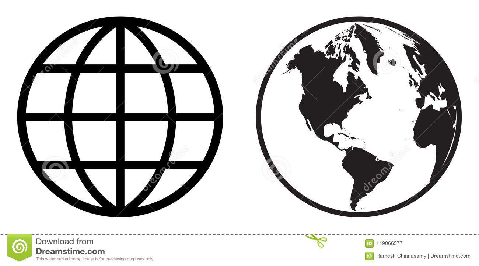 Clip art del icono del globo del mundo